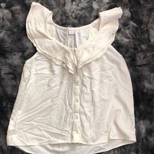Old Navy cream blouse